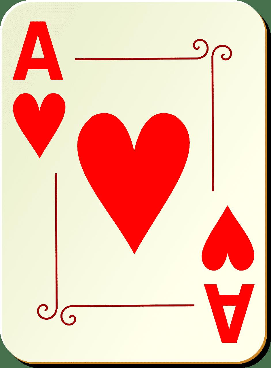 Et es i spillekort, forklarer reglerne og værdien af et es i spillets regler