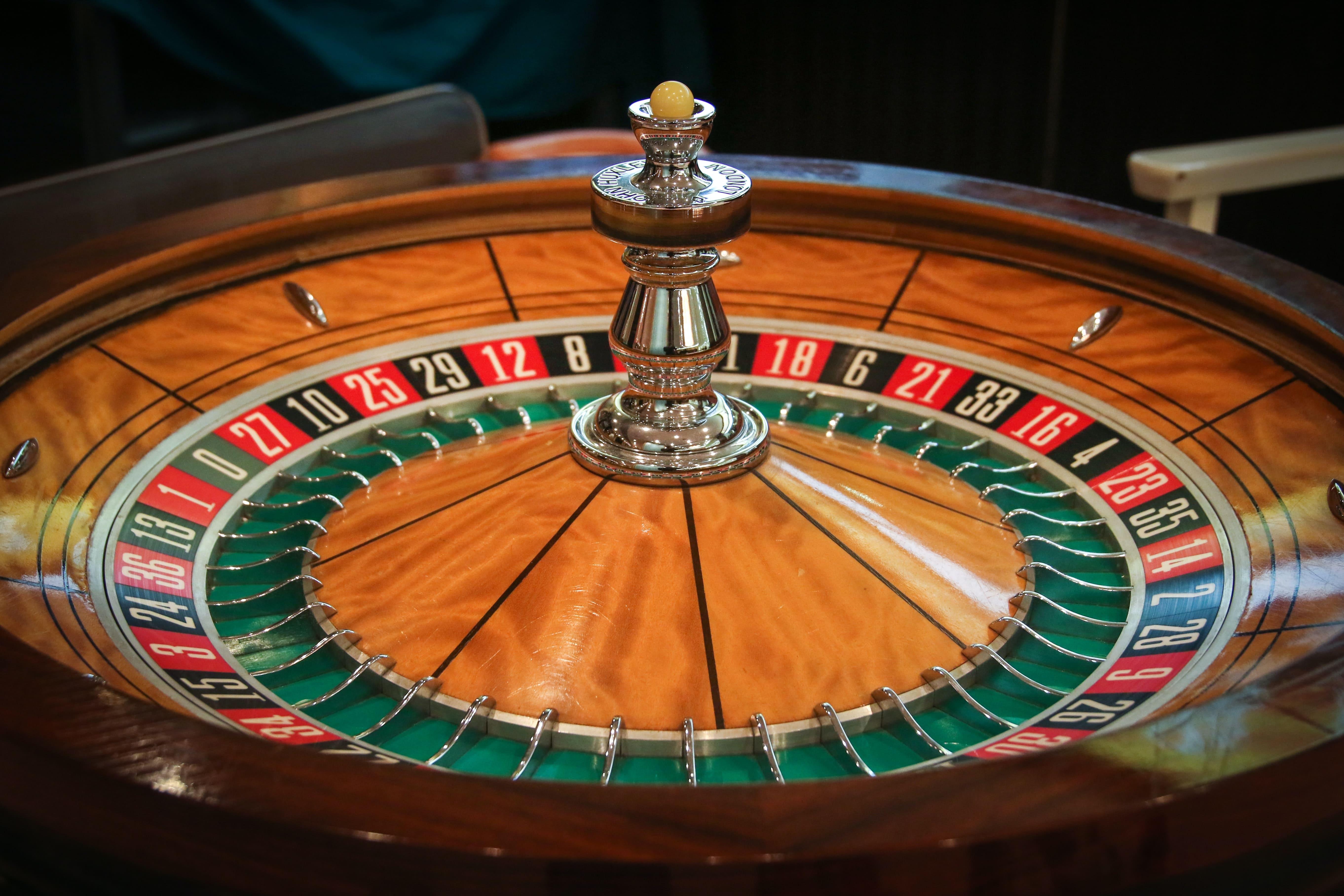 Viser et roulettebord, hvor man kan gå ind og få en indbetalingsbonus når man kommer ind på casinoet